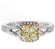 Yellow & Pink Diamond Ring, 14K, 8/10 cttw, byAffinity - J343747