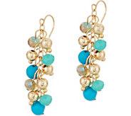 Simulated Turquoise Bead Earrings - J347947