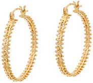 Imperial Gold 1 Wheat Hoop Earrings 14K Gold - J348747