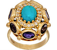 Arte dOro Oval Gemstone Ring 18K Gold - J349247