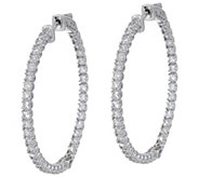 Diamonique 1 1/4 Inside Out Hoop Earrings, Sterling - J351247