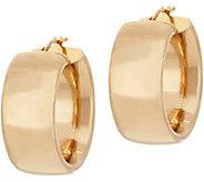 As Is Arte d Oro 1 Round Hoop Earrings, 18K Gold - J353047