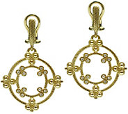 Judith Ripka 14K Gold & Diamond Earrings - J374947