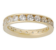 Diamonique 1.80 cttw Silk Fit Eternity Band 14K Gold - J02348