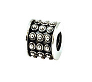 Prerogatives Sterling Rows of Dots Bali Bead - J108448