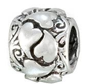 Prerogatives Sterling Wrapped Heart Bead - J109248