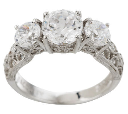tacori iv diamonique epiphany crescent lace bloom cut ring