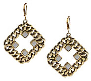 Curblink Chain and Crystal Earrings - J261748