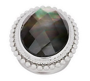 As Is Honora Mother-of-Pearl Oval Faceted Doublet Sterling Ring - J283148