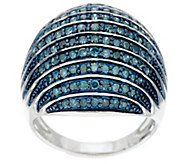 Bold Color Dome Diamond Ring, Sterling, 1.00 cttw, by Affinity - J290148