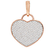 Bronze Pave Crystal Heart Enhancer by Bronzo Italia - J290948