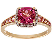 1.50 ct tw Pink Tourmaline & 1/10 ct tw Diamond Ring 14K Gold - J294748