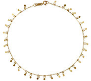 14K Gold 10 Polished Multi-circle Dangle Ankle Bracelet, 1.5g - J295848