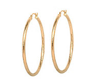 EternaGold 1-1/2 Diamond-Cut Hoop Earrings, 14K Gold - J307248