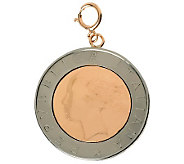 500 Lire Coin Bicolor Charm, 14K Rose Gold - J310048