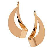 Bronzo Italia Polished Fancy Hoop Earrings - J311748