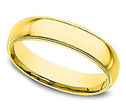 Sterling 4MM Unisex Milgrain Silk Fit Band R ing, 14K Clad - J312248