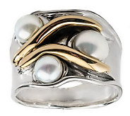 Hagit Gorali Sterling 14K Gold Cultured Freshwater Pearl Ring - J314148