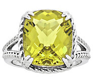 Sterling Choice of Cushion-Cut Gemstone Rope-Border Ring - J315848