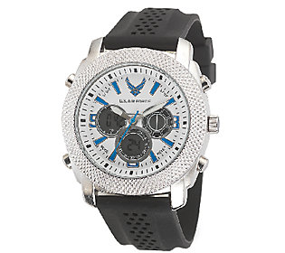 Wrist Armor Men's U.s. Air Force C21 White, Blue, Black Watch