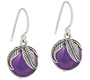 Sterling Silver Gemstone Bead Leaf Design Drop Earrings by Or Paz - J318648