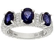Judith Ripka Sterling 2.00 cttw Triple Iolite Ring - J324048