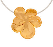 RLM Bronze Sculpted Flower Pendant on Neckwire - J324248
