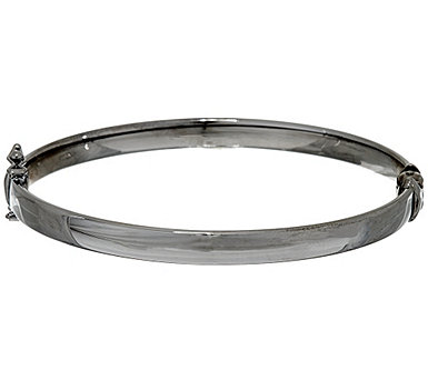 Sterling Silver Polished Hinged Bangle by Silver Style - J325748