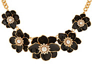 As Is Joan Rivers Floral Garden Enamel Statement Necklace - J327848