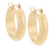 As Is 18K Gold Polished Round Huggie Hoop Earrings - J328148