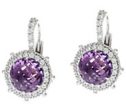 Judith Ripka Sterling Silver 4.60 cttw. Gemstone Lever Back Earrings - J329948