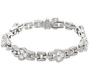 Judith Ripka Sterling Diamonique Heart 6-3/4 Bracelet - J331648