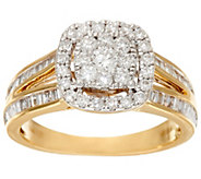 As Is Cluster Halo Design Diamond Ring, 14K 1.00 cttw by Affinity - J331948