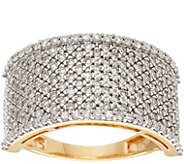 Pave White Diamond Wide Band Ring, 14K 1.00 cttw by Affinity - J346348