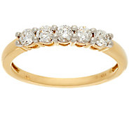 As Is 1/2 ct tw 5 Stone Diamond Band Ring 14K Gold, by Affinity - J347248