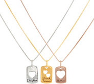 Extraordinary Life Sterling Set of 3 Heart Pendants with Chains - J347348