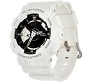 G-Shock Womens Analog Digital Black on White Resin Watch - J347848