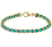 Italian Gold 6-3/4 Gemstone Bead Bracelet 14K Gold - J348848