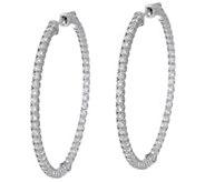 Diamonique 1 3/4 Inside Out Hoop Earrings, Sterling - J351248