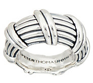 Peter Thomas Roth Sterling Silver Ribbon & Reed Domed Ring - J352248