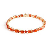 8 Fire Opal Tennis Bracelet 14K Gold, 4.60 cttw - J353548