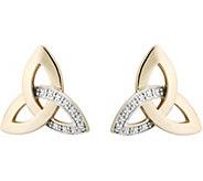 Solvar Diamond Accent Trinity Earrings, 14K - J379448