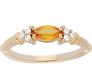 Judith Ripka 14K Gold Gemstone Diamond  Ring - J379948
