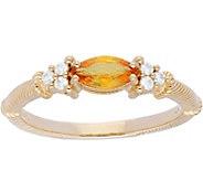 Judith Ripka 14K Gold Gemstone Diamond  Ring - J379948