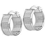 Italian Gold Petite Glimmer Hoop Earrings 14K,3.5g - J382148