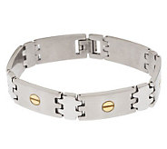 Forza Mens Two-Tone Bracelet with Nailhead Design - J107249