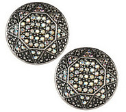 Pave Star Button Earrings - J261749