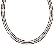 Vicenza Silver Sterling 20 Multi-strand Diamonique & Rope Necklace - J270249