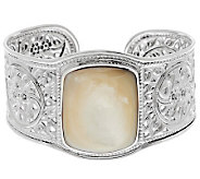 Artisan Crafted Sterling Bold Mother-of-Pearl Cuff - J276549