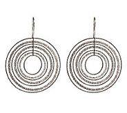 As Is Italian Silver Sterling Textured Dangle Earrings - J283649